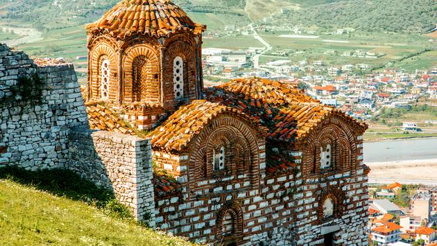 St. Theodores church in Berat city, Albania (photo via RossHelen/iStock/Getty Images Plus)