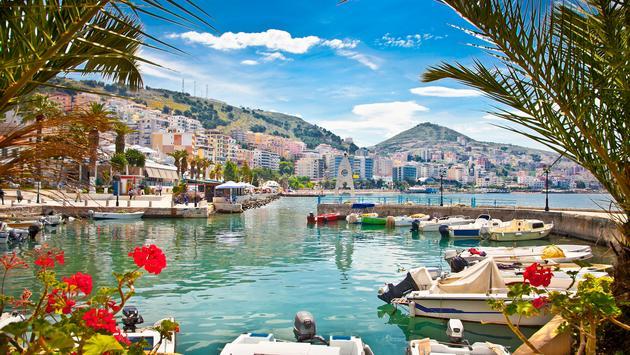 Saranda's port at ionian sea. Albania. (photo via master2/iStock/Getty Images Plus)