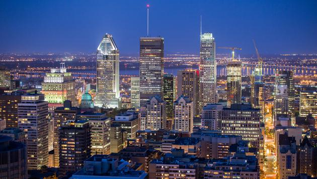 Montreal downtown at dusk (mirceax / iStock / Getty Images Plus)