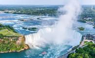 Niagara Falls Aerial View, Canadian Horseshoe Falls from the top, Ontario, Canada (CPQNN / iStock / Getty Images Plus)