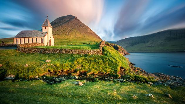 Múli is a hamlet on the Island of Borðoy in the Norðoyar Region of the Faroes. (photo via FedevPhoto / iStock / Getty Images Plus)