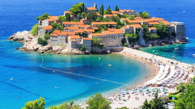 Sveti Stefan island in Budva, Montenegro (sorincolac / iStock / Getty Images Plus)
