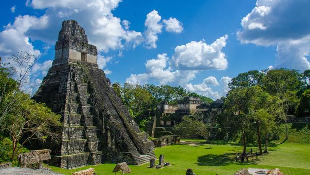 Ruins in the MAya City Tikal in Guatemala.  (photo via SimonDannhauer/iStock/Getty Images Plus)