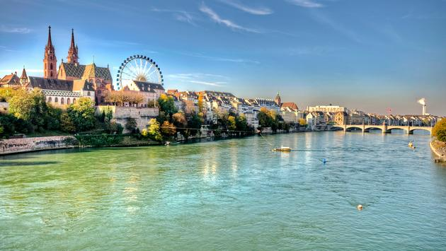 City of Basel in Switzerland (photo via anderm / iStock / Getty Images Plus)