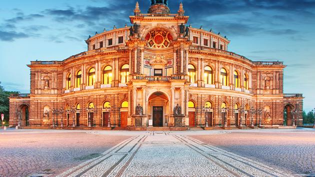 Semperoper in Dresden, Germany (photo via TomasSereda / iStock / Getty Images Plus)