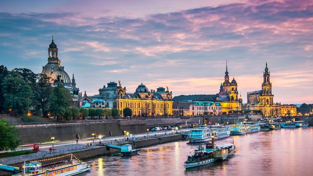 Dresden, Germany above the Elbe River. (photo via SeanPavonePhoto / iStock / Getty Images Plus)