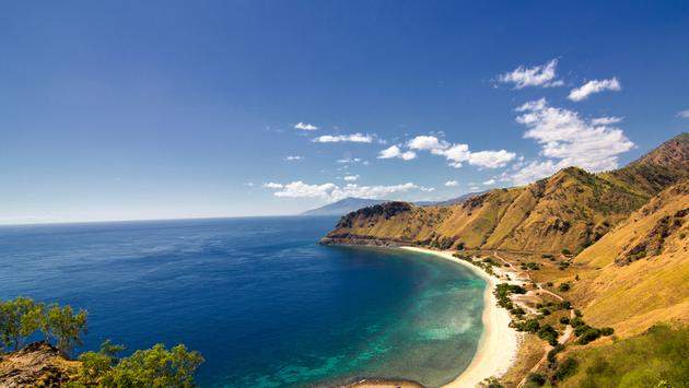 The view from Cristo Rei Statue in Dili, East Timor (photo via gaborbasch / iStock / Getty Images Plus)