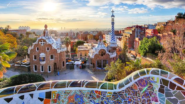 Barcelona - Park Guell, Spain (photo via TomasSereda / iStock / Getty Images Plus)