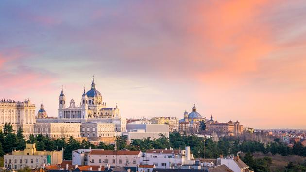 The Almudena Cathedral is the cathedral of Madrid, Spain, and is a modern building concluded in 1993. It is one of the attractions of the city. (photo via LucVi / iStock / Getty Images Plus)