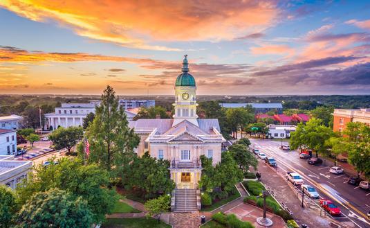 Athens, Georgia, USA downtown cityscape (photo via SeanPavonePhoto/iStock/Getty Images Plus)