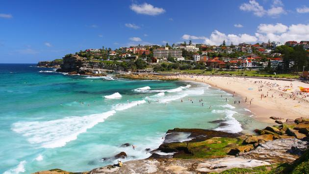 Bronte Beach in Sydney, Australia (photo via danbreckwoldt / iStock / Getty Images Plus)
