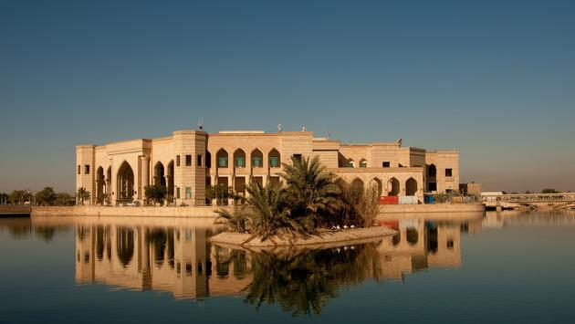Al Faw Palace, Baghdad Iraq. Home of the Multinational Forces in Iraq. (Photo via LeeCraker / iStock / Getty Images Plus)