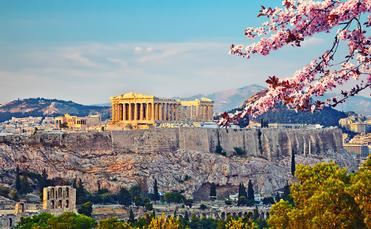 Acropolis in Athens at spring (photo via sborisov / iStock / Getty Images Plus)