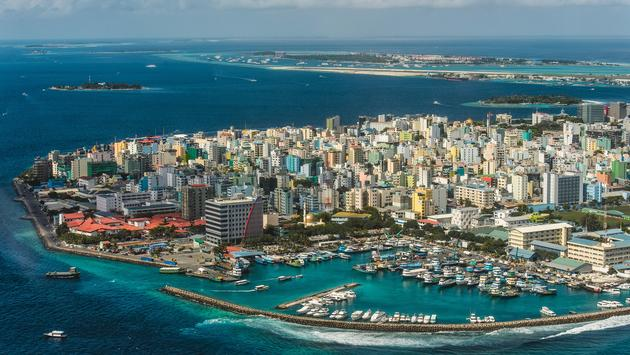 Maldivian capital Male view from above (photo via niromaks / iStock / Getty Images Plus)