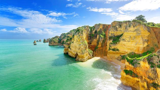 Costa ensolarada de Portugal do Estoril, Alentejo e Algarve
