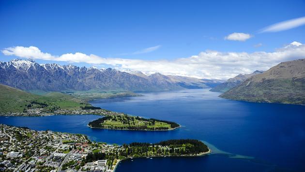 View over Queenstown, New Zealand.