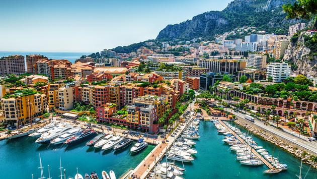 Monaco Monte Carlo sea view with yachts (photo via Garsya / iStock / Getty Images Plus)