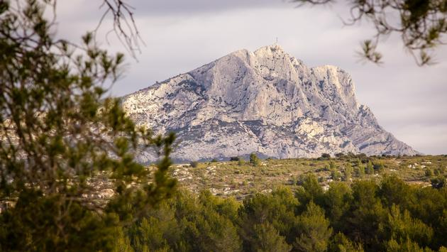 mountain near Aix-en-Provence which inspired the painter Paul Cézanne (photo via Phillip Paternolli/iStock/Getty Images Plus)