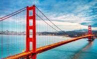 famous Golden Gate Bridge, San Francisco, USA (photo via ventdusud / iStock / Getty Images Plus)