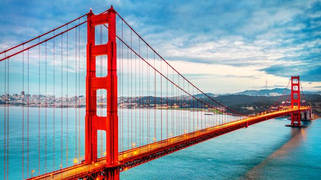 famous Golden Gate Bridge, San Francisco, USA (photo via ventdusud / iStock / Getty Images Plus)